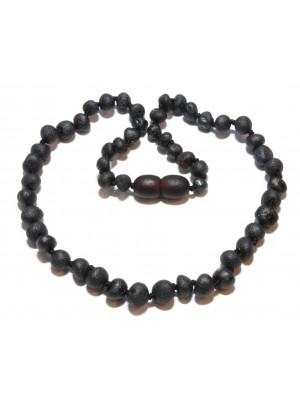 necklace black raw volwassen barnsteen ketting