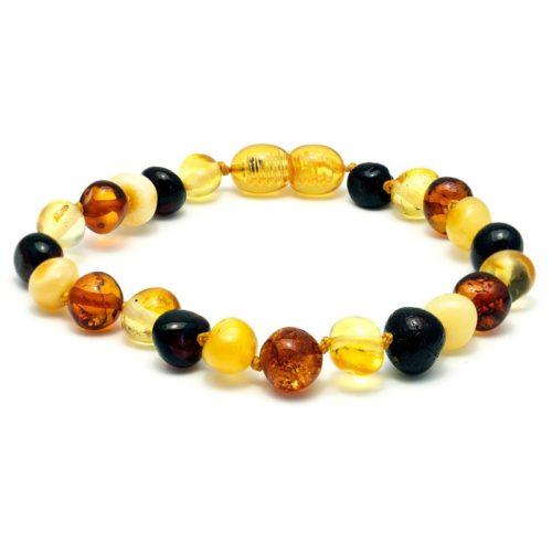bracelet mix glans volwassen draaisluiting 19cm