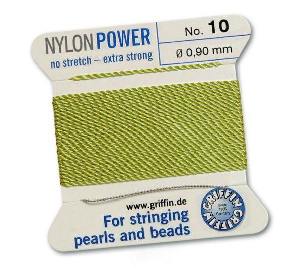 nylon power jade barnsteen groen draad barnsteen sieraden