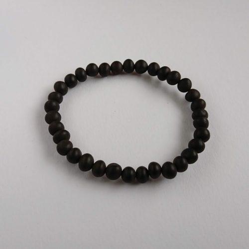 volwassen armband elastisch black raw zwarte barnsteen