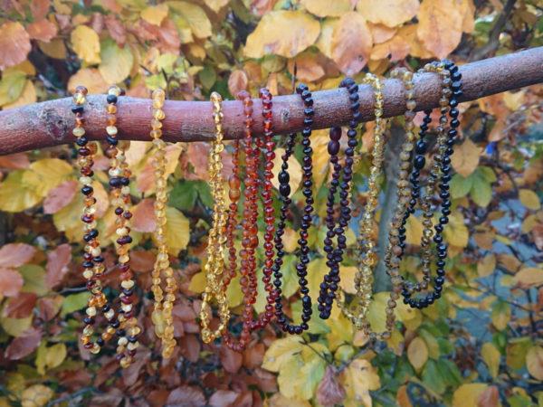 barnsteen sieraden 12 kleuren herfst